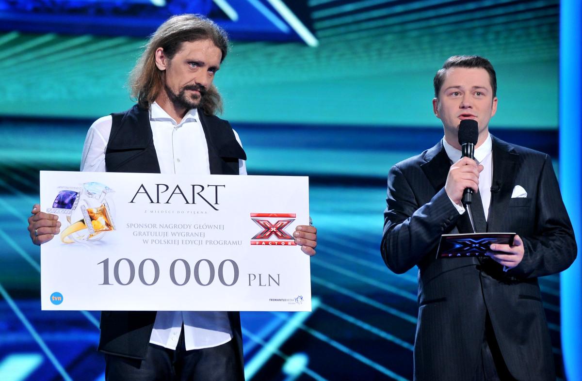 Gienek Loska i Jarosław Kuźniar po ogłoszeniu wyników